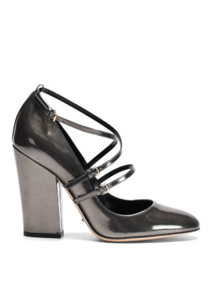 Sergio Rossi: court shoes - Mirror leather crisscross pumps