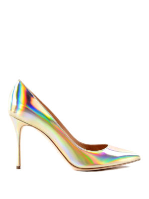 Sergio Rossi: court shoes - Mirrored leather pumps
