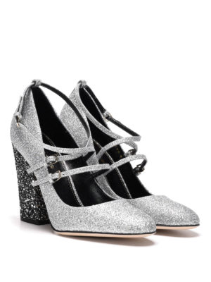 Sergio Rossi: court shoes online - Betty glittered Mary Jane shoes