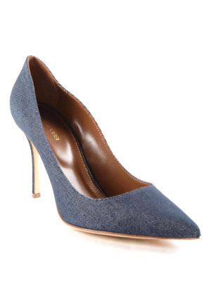 Sergio Rossi: court shoes online - Denim Godiva pumps