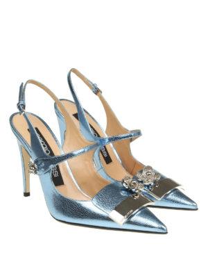 Sergio Rossi: court shoes online - Embellished pointy slingbacks