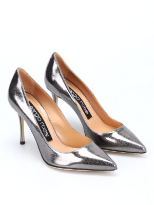 Sergio Rossi: court shoes online - Godiva crackle leather pumps