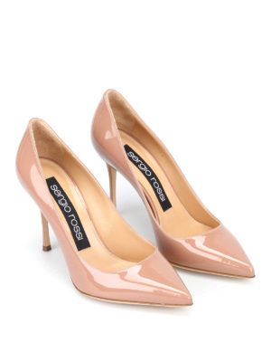 Sergio Rossi: court shoes online - Godiva nude patent pumps