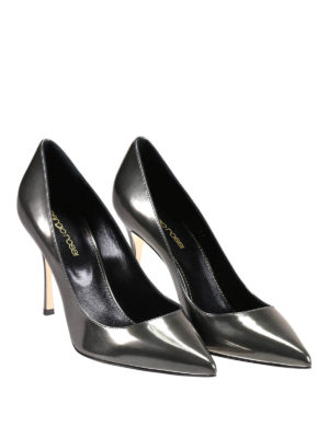 Sergio Rossi: court shoes online - Godiva patent leather pumps