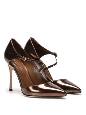 Sergio Rossi: court shoes online - Malgosia mirror leather pumps