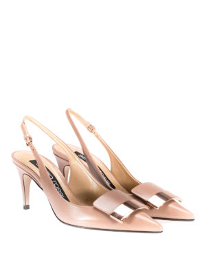 Sergio Rossi: court shoes online - sr1 bright skin leather slingbacks