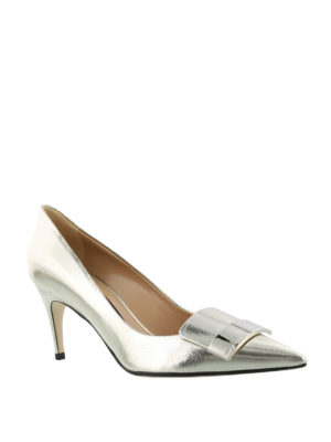 Sergio Rossi: court shoes online - Sr1 laminated crackle leather pumps