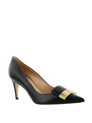 Sergio Rossi: court shoes online - Sr1 logo plaque nappa pumps