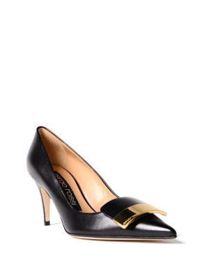 Sergio Rossi: court shoes online - Sr1 nappa mid heel pumps