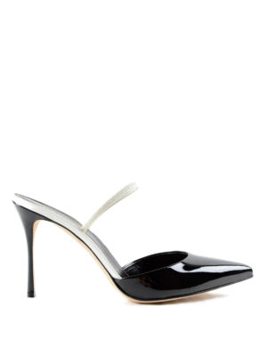 Sergio Rossi: court shoes - Patent leather slingback pumps