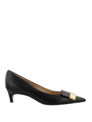 SERGIO ROSSI: scarpe décolleté - Décolleté con placca dorata