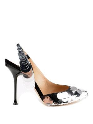 SERGIO ROSSI: scarpe décolleté - Slingback Sr Milano con maxi paillettes