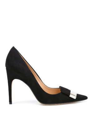 Sergio Rossi: court shoes - sr1 black suede pumps