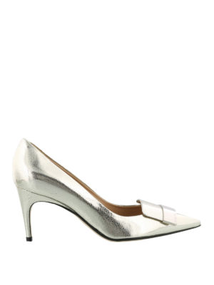Sergio Rossi: court shoes - Sr1 laminated crackle leather pumps