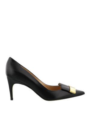 Sergio Rossi: court shoes - Sr1 logo plaque nappa pumps