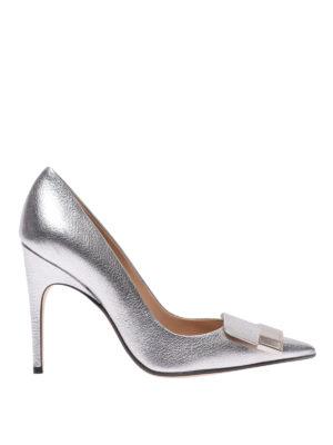 SERGIO ROSSI: scarpe décolleté - Décolleté Sr1 in pelle metallizzata