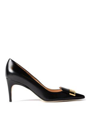 SERGIO ROSSI: court shoes - Sr1 nappa mid heel pumps