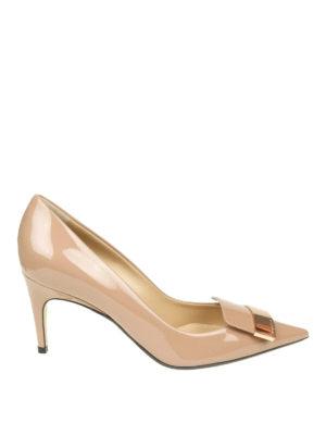 SERGIO ROSSI: scarpe décolleté - Décolleté Sr1 in vernice color nudo