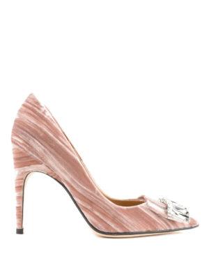 SERGIO ROSSI: scarpe décolleté - Décolleté sr1 gioiello in velluto