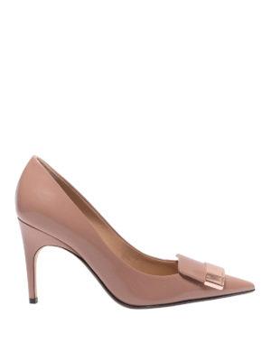 SERGIO ROSSI: scarpe décolleté - Décolleté Sr1 rosa in vernice