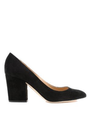 SERGIO ROSSI: scarpe décolleté - Décolleté Virginia in camoscio nero