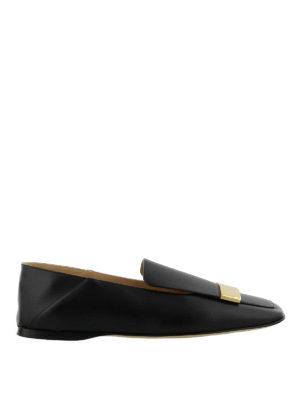 SERGIO ROSSI: Mocassini e slippers - Mocassini con placca dorata