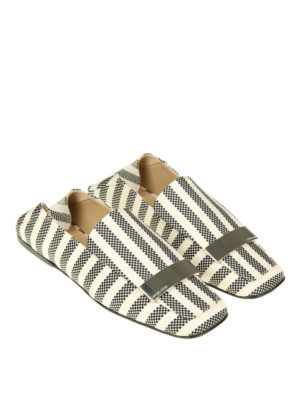 Sergio Rossi: Loafers & Slippers online - Bicolour canvas flat slippers