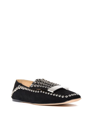 Sergio Rossi: Loafers & Slippers online - Round studs suede loafers