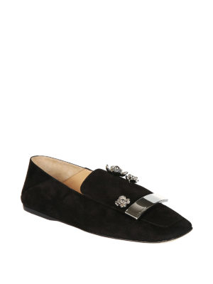 Sergio Rossi: Loafers & Slippers online - sr1 jewel suede flat slippers