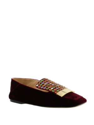 Sergio Rossi: Loafers & Slippers online - Sr1 multicolour studded slippers