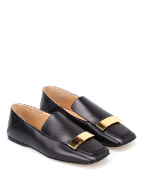 Sergio Rossi: Loafers & Slippers online - sr1 napa leather black flat shoes