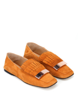 Sergio Rossi: Loafers & Slippers online - sr1 suede fringed flat shoes