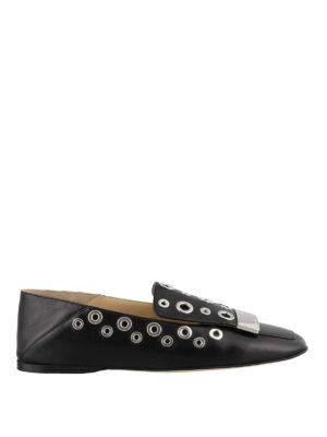 SERGIO ROSSI: Mocassini e slippers - Mocassini con punta squadrata e occhielli