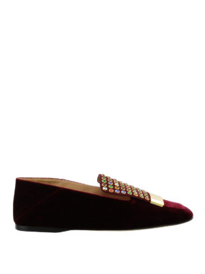 Sergio Rossi: Loafers & Slippers - Sr1 multicolour studded slippers