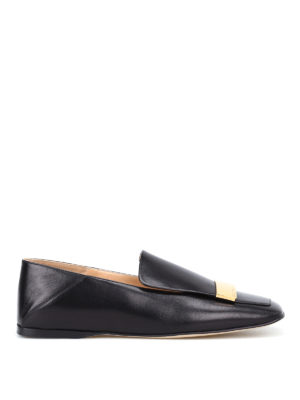 Sergio Rossi: Loafers & Slippers - sr1 napa leather black flat shoes