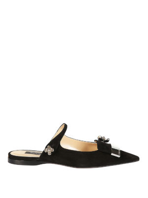 Sergio Rossi: Loafers & Slippers - sr1 open back suede ballerinas