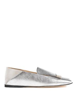 SERGIO ROSSI: Mocassini e slippers - Slipper Sr1 in pelle argento