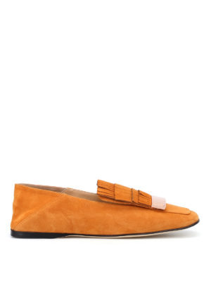 Sergio Rossi: Loafers & Slippers - sr1 suede fringed flat shoes