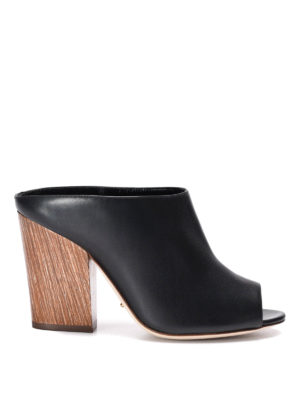 Sergio Rossi: mules shoes - Leather mules