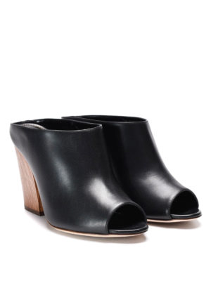 Sergio Rossi: mules shoes online - Leather mules