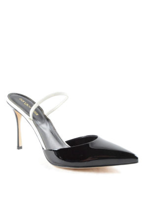 Sergio Rossi: mules shoes online - Patent leather stiletto mules