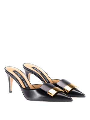 Sergio Rossi: mules shoes online - sr1 black leather mules
