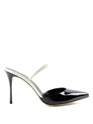 Sergio Rossi: mules shoes - Patent leather stiletto mules