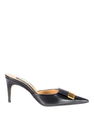 Sergio Rossi: mules shoes - sr1 black leather mules