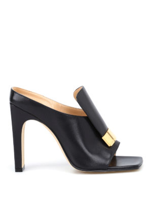 Sergio Rossi: mules shoes - sr1 napa leather black mules