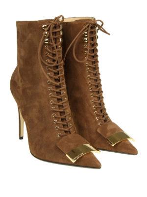 SERGIO ROSSI: stivali online - Stivali in camoscio con maxi allacciatura