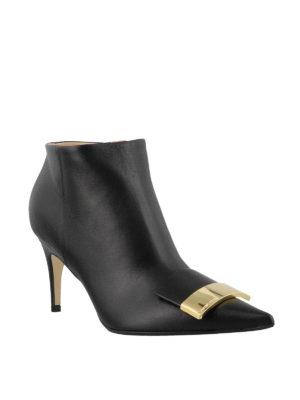 SERGIO ROSSI: scarpe décolleté online - Stivaletti con logo dorato