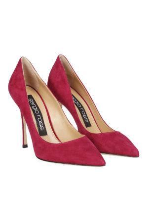 SERGIO ROSSI: scarpe décolleté online - Décolleté Godiva in pelle scamosciata