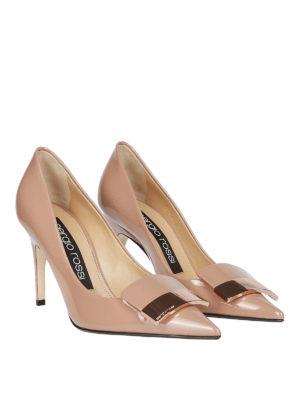 SERGIO ROSSI: scarpe décolleté online - Décolleté sr1 in pelle verniciata color carne