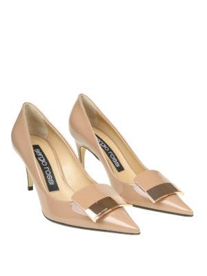 SERGIO ROSSI: scarpe décolleté online - Décolleté Sr1 in vernice color nudo